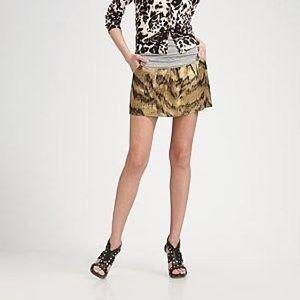 Diane Von Furstenberg Ginsy Tiger Mini Skirt